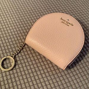 Kate Spade Half Moon Pink Coin Wallet Keychain 💖